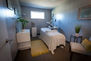 natural acne clinic treatment room in denver